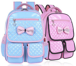 Wholesale 2016 Retail PC Girls School Bags Backpack Sweet Princess School Backpacks For Children Age Years ZZ2907