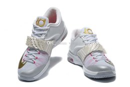 Wholesale With Shoes Box Top Quality KD VII Aunt Pearl Sneakers Mens Basketball Shoes