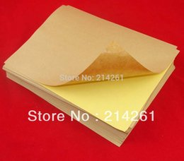 Wholesale A4 Sticker Paper Label Printing Paper sheets X297mm Self adhesive A4 Blank Kraft Label Paper for Laser Inkjet Printer