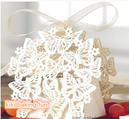 Butterfly & Flower Laser Cut Paper Wedding Favor Candy Box Boxes