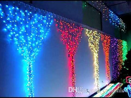 2017 rgb led net 2mx2m 400leds Led Net Lumière Rideaux Lumières Xmas Fairy Lights lumière de la cascade Led Cordes lumière de mariage Décoration de Noël lumières 110v 220v peu coûteux rgb led net