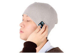 Descuento sombreros casual para los hombres NUEVO caliente suave música Beanie Bluetooth gorra con Stereo Auricular altavoz inalámbrico de micrófono de manos libres para el regalo Hombres Mujeres Navidad