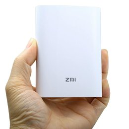 Wholesale Original Xiaomi ZMI MF815 Mbps TD LTE G TD SCDMA G Wireless WiFi Router Support Micro SIM Card mAh Power Bank Charger