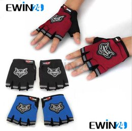 Wholesale Black Pair Men s Motorcycle Motorbike Racing Bike Fingerless Gloves pairs New fashion sports gloves Concise fashion