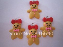 Wholesale-Free shipping flat pocket people cute black resin charm for DIY decoration 50pcs lot