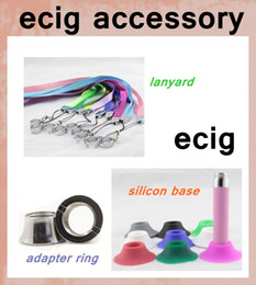 ecig accessories silicone base stander E-cigarette Lanyard Ring For CE4 CE5 EVOD MT3 H2 Atomizer connector ring beauty adapter ring FJH11