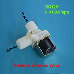 Wholesale Electric Solenoid Valve Magnetic Screw thread Vertical flow Water Air Inlet DC V Flow Switch quot