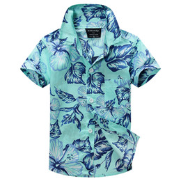 Wholesale-2015 new arrival free shipping cotton 100% floral shirt hawaiian shirt aloha shirt for boy T1509