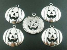 Fit DIY Bracelet 20PCS Halloween Pumpkin Face Charms Pendants 24X25mm pendant settings white gold bracelet stamps