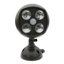 Wholesale DHL shipping LED Motion Sensor Spotlights Ultra Bright Wireless Sensor Lights indoor outdoor lights Sensor Lamps waitingyou