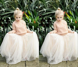 Wholesale 2016 Lovely Baby Girls Tulle Skirts White Princess Tutu Ball Gown Flower Girl Party Dresses For Wedding Cheap Children s Long Skirts