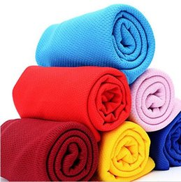 Wholesale Cold cooling Performance towel Summer cooling towels sports outdoor ice cold scarf scarves Pad neck tie wristband headband beach supplies