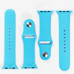 Wholesale 1 Original Design Silicone Band With Connector Adapter Clip For Apple Watch Silicon Strap For iPhone iWatch Sport Buckle Bracelet Free DHL