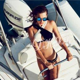 Tankini negro l en venta-Traje de baño del traje de baño de la playa del traje de baño del nuevo traje de baño 2015 Traje de baño atractivo del bikiní de los colores mezclados blanco y negro mikoh biniki