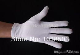 White Cotton Gloves Serving Waiters Gloves Concierge Butler Snooker Equestrian