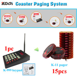 1 transmitter with 15 coaster pagers widely used for fast food restaurant cafe COASTER PAGER SYSTEM