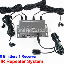 Wholesale BD108 Emitter Receiver adapter IR Infrared Remote TV AV Video Home Application Extender Hidden IR Repeater System Kit