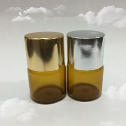 100 pcs pack 5ml Brown Glass Dropper Bottles with golden silver cap For Essential Oil,Perfume Sampling
