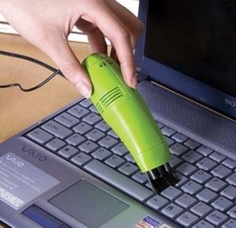Wholesale MINI USB VACUUM KEYBOARD CLEANER for PC LAPTOP computer Small USB brush flexible rubber keyboards cleaner