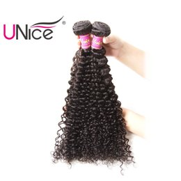 UNice Hair Curly Wave Malaysian Unprocessed 100%Human Hair Bundles 8-26inch 1Piece Non Remy Natural Color Hair Weaving