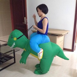 halloween Christmas party cosplay one size fit all design green inflatable dinosaur costume for adults to wear