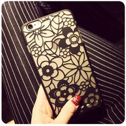 Wholesale New arrival hollow out PC matting Victoria flower cell phone case mobile hard cover