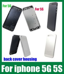 Wholesale cell phone housing for iphone s g back cover housing door case cell phone back hard cover faceplates black and white dhl free SNP002