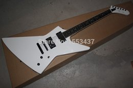 Wholesale New Arrival Custom Explorer MX II White V Battery Active Pickups EMG Electric Guitar in Stock