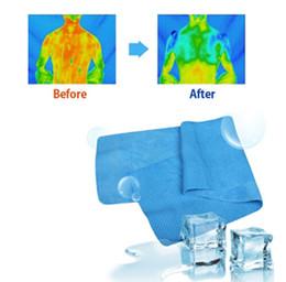 Descuento bufanda para el frío Nueva Toalla Toalla fría de hielo 90 * los 38CM multifuncional bufanda toalla deporte hielo refrigeración en verano para los Hijos Adultos gran tamaño