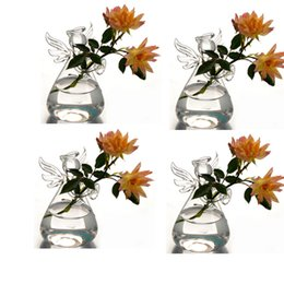Wholesale NEW hanging glass air plant flower vase angle shape terrarium flat base hand made CHRISTMAS wedding decor