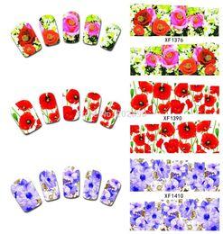 Transfert d'eau autocollants de tatouage en Ligne-10 feuilles /lot 50designs l'arrivée de Nouveaux Nail Art Fleur, les Transferts d'Eau Stickers Ongles Autocollants Enveloppements Tatouage Accessoires