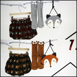 Wholesale HOT Kids Lovely D Fox socks Baby Boy Girl Leg Warmer stockings suitable for Y Cotton Animal image DHL free ship MOQ pairs SVS0331