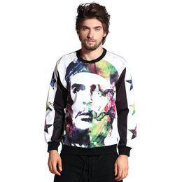Wholesale Andy New d sketch portrait print revolution men hoodies thin pullover long sleeve sweatshirts casual hoodies size S M L XL