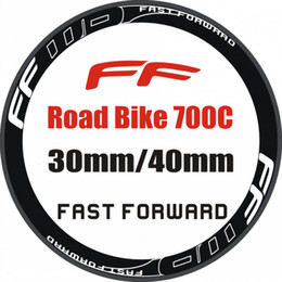 Wholesale FAST FORWARD Carbon Road Bike Bicycle Wheel Stickers Rim Decals Mountain Bike Stickers For C Wheels