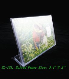 Wholesale Clear X2 Horizontal L Shape Plastic Acrylic Sign Display Paper Price Card Table Holder Mene Stand