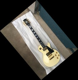 Wholesale Best Guitar Brand New Custom Model Large Diamond Inlay On The Headstock Ebony Fingerboard Top Quality Cream