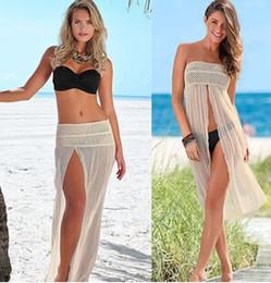 Wholesale New Women Sexy Holiday Bikini Cover Ups Summer Womens Split Swimwear Beach Skirt Swimsuit Cover Up Beach Dress XC