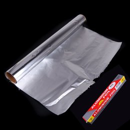 Wholesale Baking Aluminum Foil Baking Barbecue Paper Oven BBQ Grill Tinfoil Paper M CM order lt no track