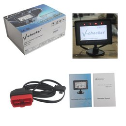 Wholesale V CHECKER A301 with Multi function OBD2 auto Diagnostic scanner v checker A Trip Computer best quality DHL