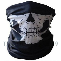 Wholesale hot NEW CS Cosplay Ghost Skull Black Face Mask Motorcycle Biker Balaclava Call ofof Duty Windproof mask Skiing sport masks