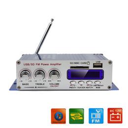 HY-400 12V coche digital coche Display Power Amplifier Soporte de tarjeta USB / SD de DVD del coche de entrada con control remoto CEC_827 desde el jugador del sd para la televisión fabricantes
