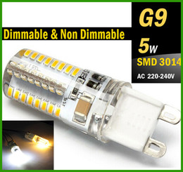 Wholesale G9 LED W Dimmable Non Dimmable Bulb V V V G9 E14 Base Candle Mini Corn Droplight Replace W Halogen Lamp W SMD led