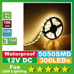 Imperméable LED bandes ip68 300 LED 5M 5050 SMD couleur simple bande de lumière flexible cool blanc blanc chaud 60leds / M conduit bande à partir de ip68 conduit bandes lumineuses fournisseurs