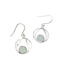 Lovable women's earrings with mystic Japanese opal gemstone 925 Sterling silver customized design by American style for E966
