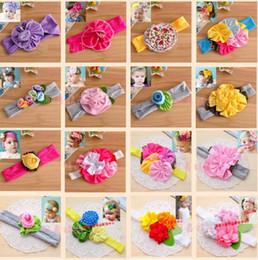 17 designs baby flower Bouquet Girl's Hair Headbands Bow Headband hair band girl head wrap Elastic Headband Kids Hair Jewelry cheap