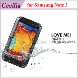 Wholesale Case for Samsung Galaxy Note LOVE MEI Weather Dirt Shockproof Protective Case Gorilla Glass Metal Warrior Aluminum LOVE MEI Note