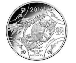 5 pcs lot New design 2016 Lunar Series Animal Year of the Monkey Chinese zodiac silver plated Elizabeth souvenir coin No magentic
