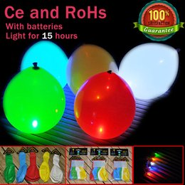 Wholesale x Led Balloon Night Glow Fixed Lght iLLoom Balloons For Wedding Party Decorations