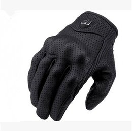Wholesale-2015 new Retro Pursuit Perforated Real Leather Motorcycle Gloves Moto Gloves Motorcycle Protective Gears Motocross Glove
