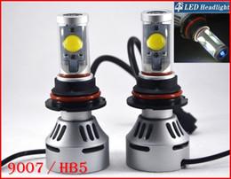 2016 double t5 2 jeux 9007 Système de phares HB5 72W 7000LM LED CREE Auto Hi Dual / Low 4S faisceau UPGRADED MTG2 CHIP Xenon Blanc modifiable Conduite Anti-brouillard double t5 à vendre